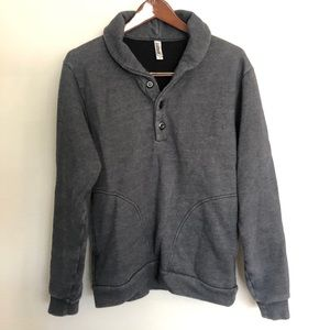 American Apparel M Rugby Pullover Sweater EUC AA